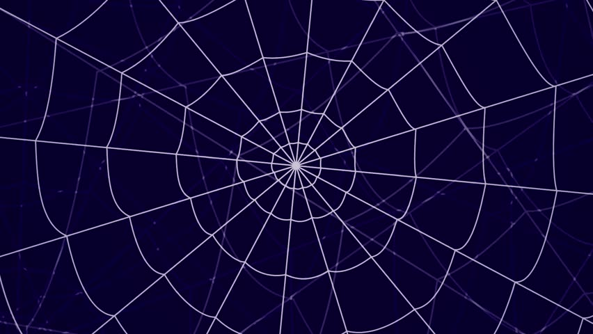 several webs move against a blue background