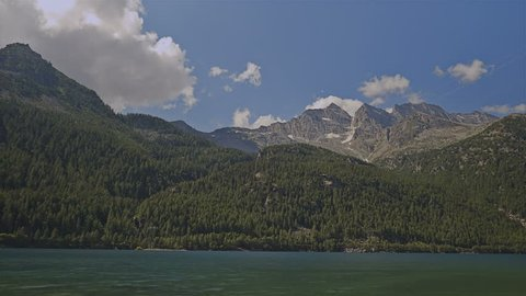 Lake of Ceresole, Gran Paradiso National Park - Time lapse. Turin. Italy