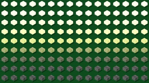 Abstract isometric background cubes cubes lights bulbs horizontal wave flashing