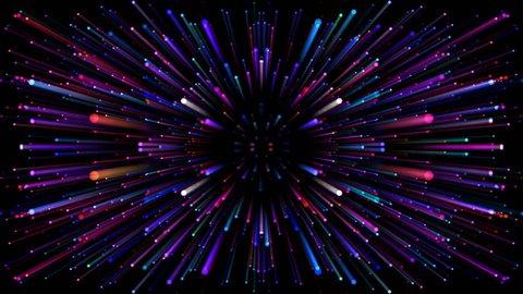 Star Burst Warp Space