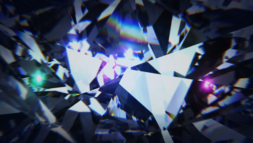 Black diamond dispersion footage. Carbonado crystal gem polycrystalline of diamond, graphite, and amorphous carbon. Round diamond cut animation with light dispersions on surface. 3D animation | Shutterstock HD Video #1015843729