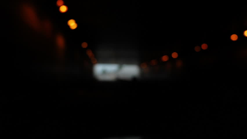 Blur scene, car driving road through tunnel | Shutterstock HD Video #1015852999