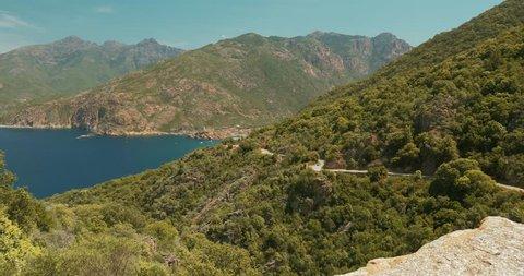 View of Porto, Corsica, graded version