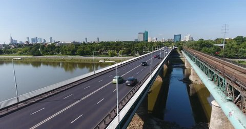 Automobile Traffic Flow On a Stock Footage Video (100