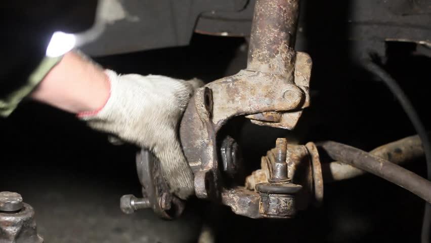 car suspension repair. replacement of shock absorbers, shurts, silent blocks, bearings.