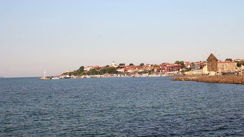 Old town Nessebar cityscape Bulgaria