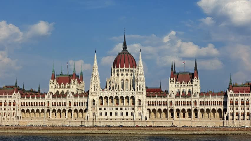 Budapest - parliament at day- time lapse. Hungary | Shutterstock HD Video #1016085379