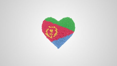 Eritrea National Day. May 24. Heart animation with alpha.