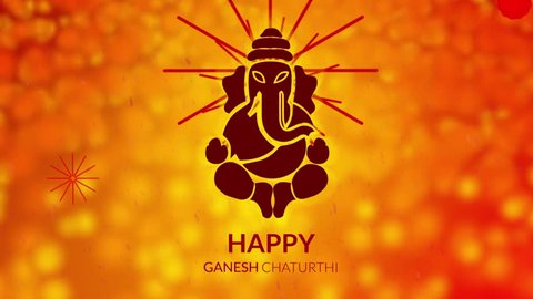 Happy Ganesha Chaturthi Animation for festival, Holiday, Events, Calibration