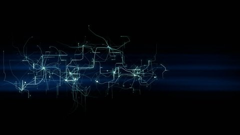 4k lightning electromagnetic wire energy field,Blue electrons,Circuit board,fiber optic transmission,Futuristic tech background.Network connections. cg_05241_4k