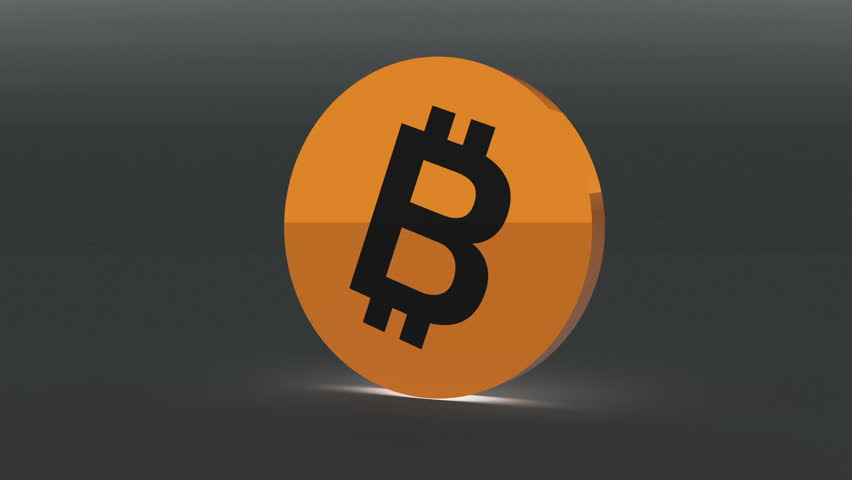 4k Bitcoin Crypto Currency Logo 3D rotates btc coin finance business animation. cg_06042_4k