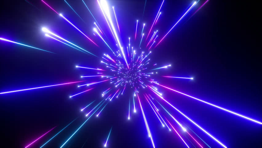 3d render, big bang, galaxy horizon, abstract cosmic background, celestial, beauty of universe, speed of light, fireworks, red blue neon glow, stars, cosmos, infrared light, outer space, 4k animation | Shutterstock HD Video #1016240419