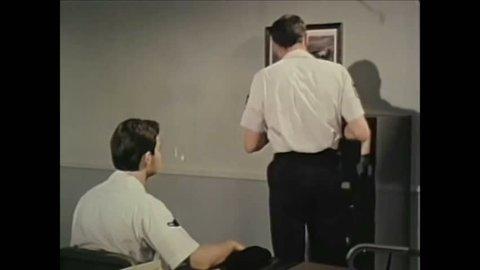 CIRCA 1980 - A USAF officer talks about how heightened emotions can make gun handling dangerous.