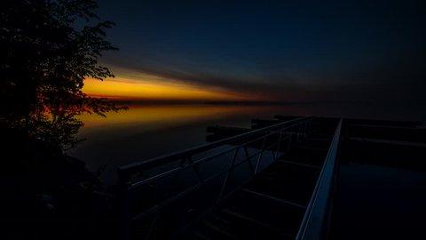 Timelapse of Sunrise over Lake Simcoe from Innsifil Beach