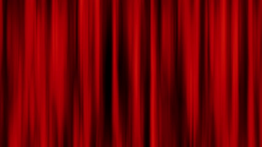 Red curtain wind effect moving for background or end movie credit background | Shutterstock HD Video #1016519779