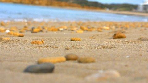 Torquay beach Victoria Australia. Low angle of sand and rocks