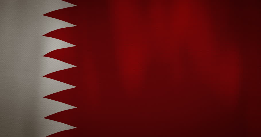 animation - modern Bahrain flag fabric texture waving in the wind. 4K motion flag footage video