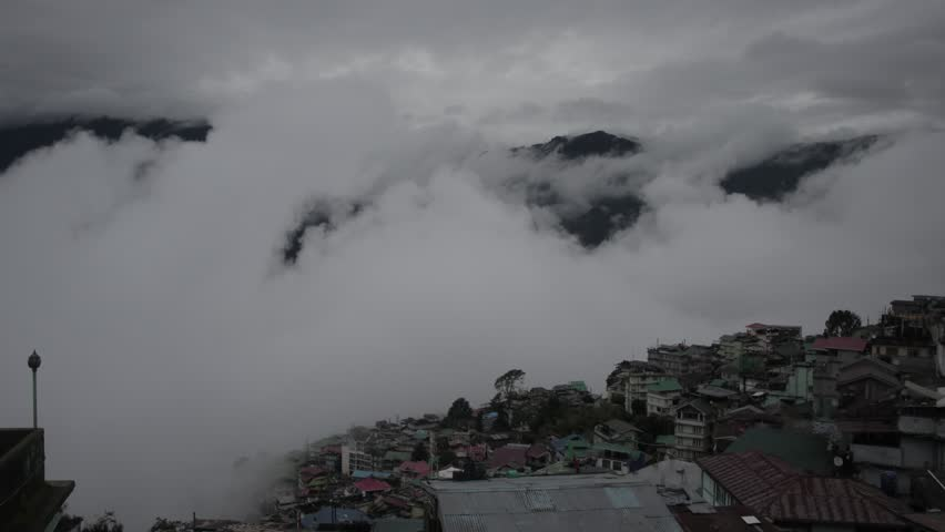 A short time lapse in the hills of gangtok, Sikkim