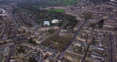 Bath skyline aerial shot with Queens Square