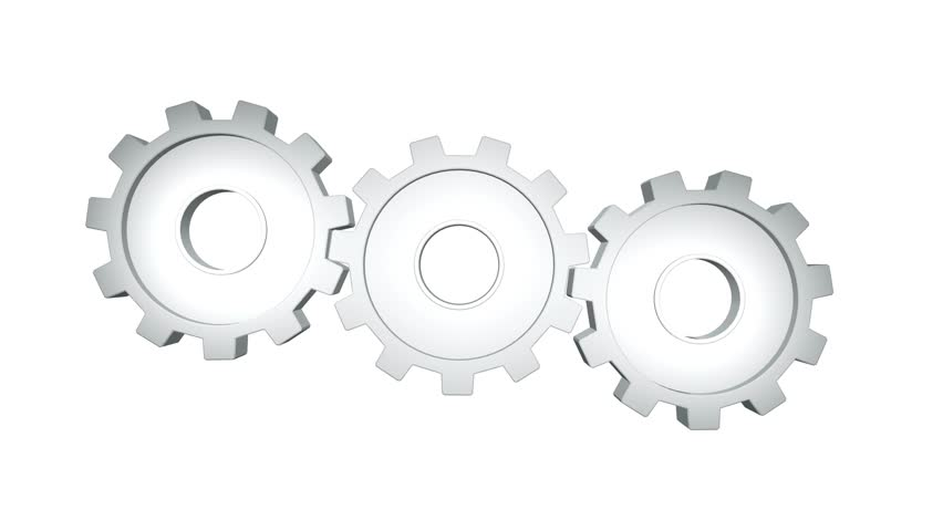 White gears rotate against a white background.  | Shutterstock HD Video #1016714659