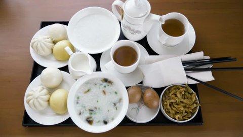 Chinese Breakfast Close Up Xian China