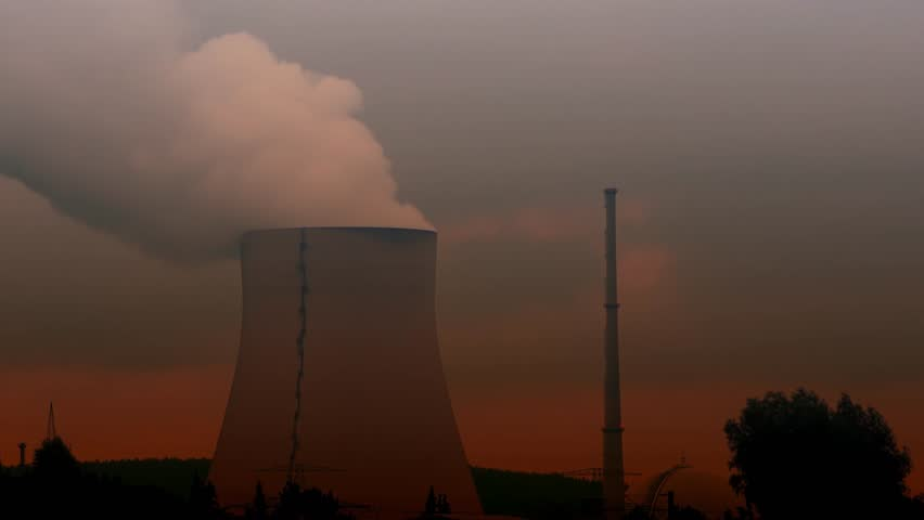 4K footage of the Isar 2 nuclear power plant in Essenbach, Germany.