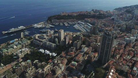 Monaco Monte Carlo city France sea town port yahts flats boats and casino