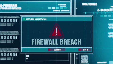 Firewall Breach Warning Notification Generated Stock Footage Video (100%  Royalty-free) 1016902999 | Shutterstock