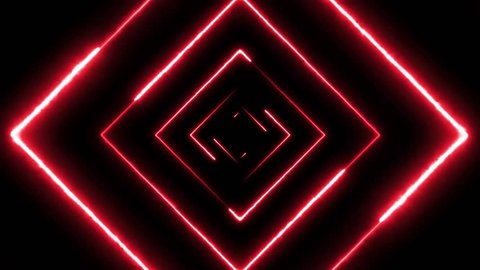 Abstract Digital Background Neon Maze Seamless Loop/ Animation of an abstract digital maze background with neon square seamless looping