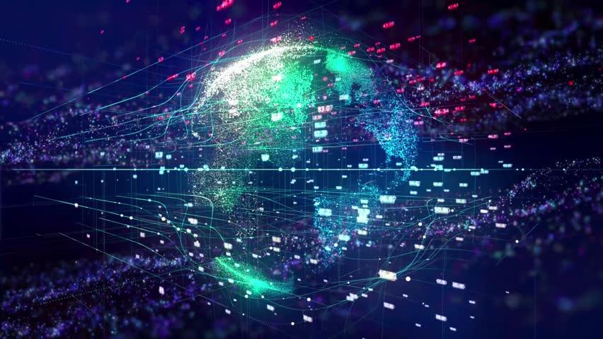 Global business communications background | Shutterstock HD Video #1017034369