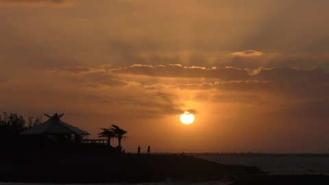 Sunset of Okinawa Naha Umisora Park 5.mov