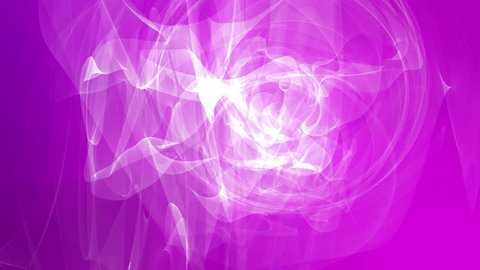 Abstract white shape slowly moving on a purple background. 3D rendering