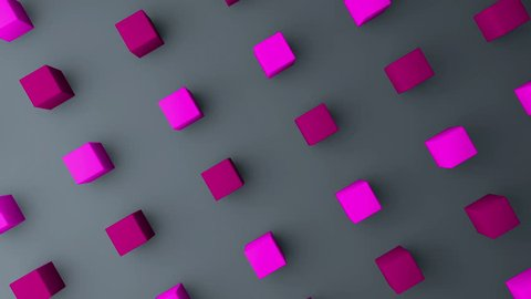 3d cubes gradient background. VJ Seamless loop background.