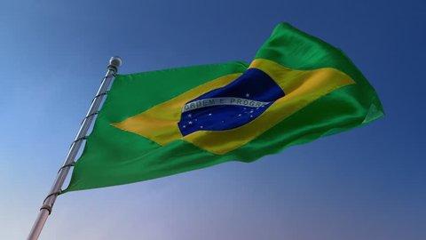 flag Brazil BR 4k loop