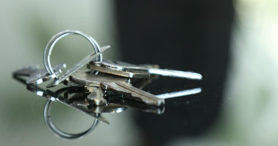 Keys on the Glass table