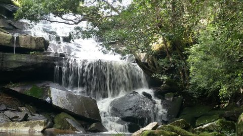 4k, Waterfall Phu Kradueng National Park Loei Thailand, penpob Waterfall