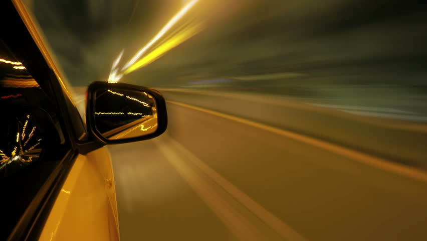 Time lapse - Driving on the night road. night drive smoothing and yellow light blurring. loop able. | Shutterstock HD Video #10177799
