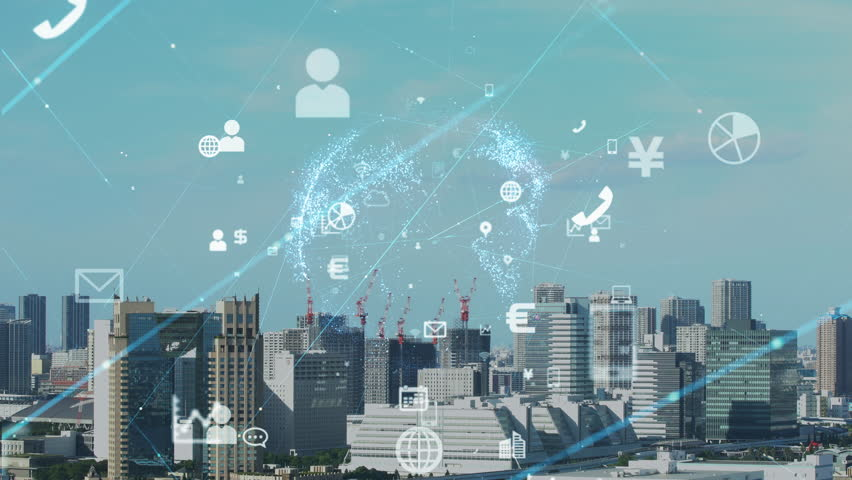 Smart city concept. IoT(Internet of Things). | Shutterstock HD Video #1017807019