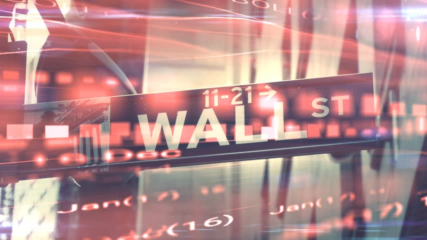 Stock market collapse or bear market on wall street motion graphic | Shutterstock HD Video #1017913399