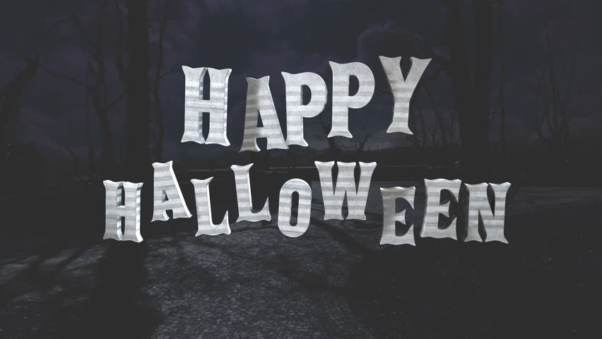Seamless animation of Halloween texts. Letters shaking.   Shutterstock HD Video #1018144249