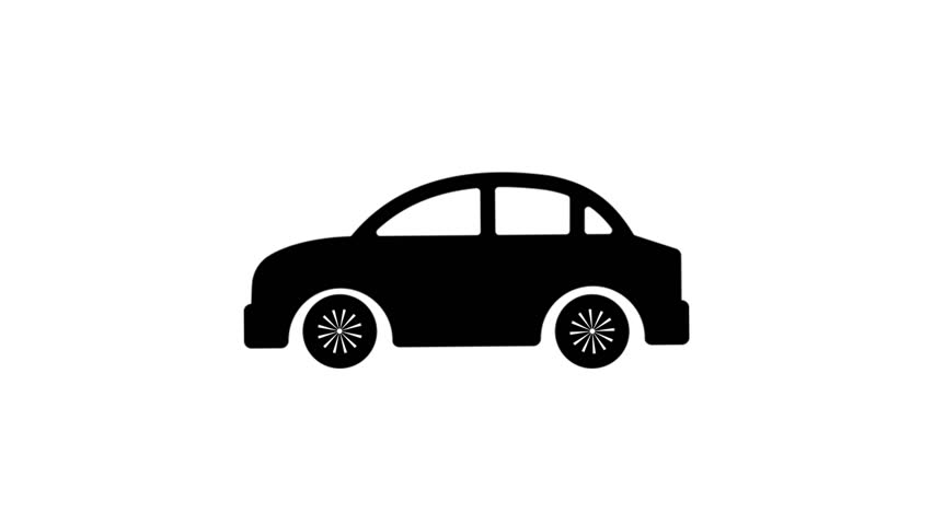 Cool black car animation on the white background. | Shutterstock HD Video #1018148449