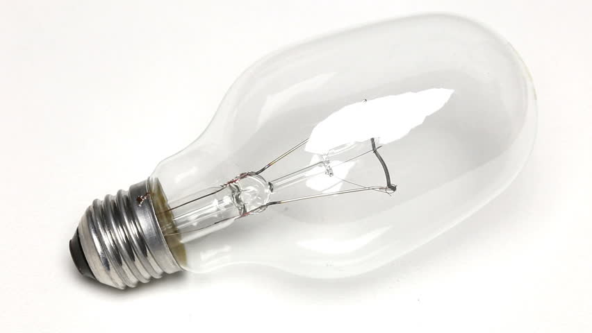 Light bulb on white background | Shutterstock HD Video #1018161199