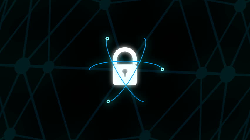 Security Concept Head up Display with padlock   Shutterstock HD Video #1018174129