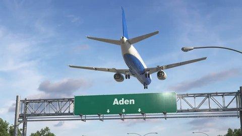 Airplane Landing Aden