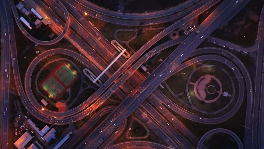 Aerial View Of Highway Junctions Stock Footage Video 100 Royalty Free 1018366399 Shutterstock