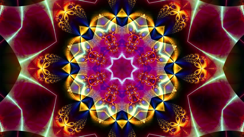 Color kaleidoscope sequence patterns. 4k. Abstract multicolored motion graphics background. Or for yoga, clubs, shows, mandala, fractal animation. Beautiful bright ornament. Seamless loop. | Shutterstock HD Video #1018367269