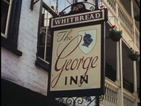 LONDON, ENGLAND, 1976, George Inn pub, Southwark
