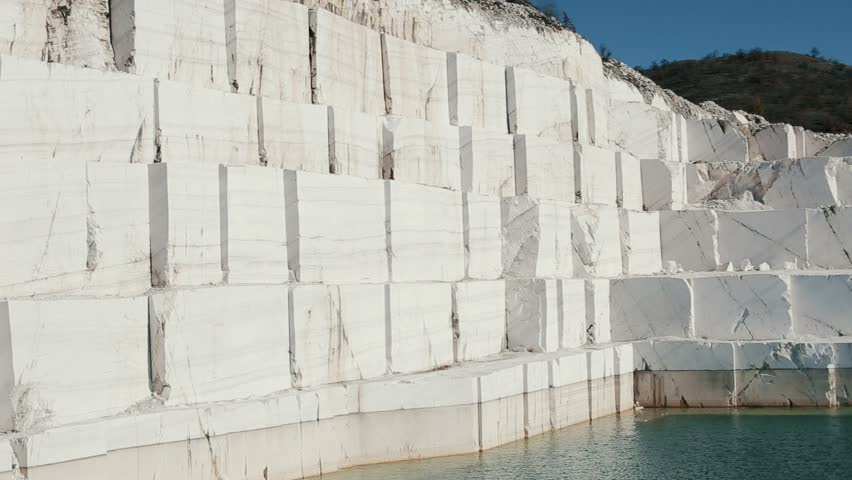 Marble Lake White Marble Quarry Stock Footage Video 100