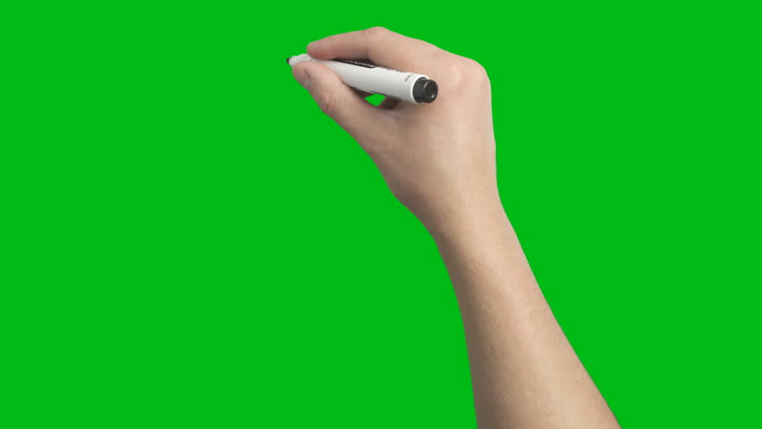 Male Hand Whiteboard Black Marker Scribble Writing Loop Animation