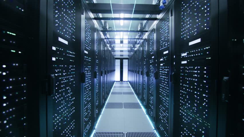 Cinemagraph: Activating Data Center with Server Racks Full of Blinking LED Lights. | Shutterstock HD Video #1018733809